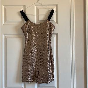 Bronze/gold New Years Eve party dress!